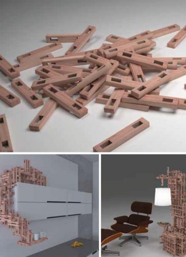 Aus kleinen Bausteinen werden Skulpturen, Möbel, neue und belastbare Strukturen