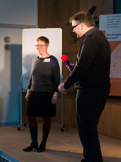 #agdjt13 – Annika Brinkmann und Christoph Jahn beschreiben den Weg zur Genossenschaft |Foto: Dieter Düvelmeyer