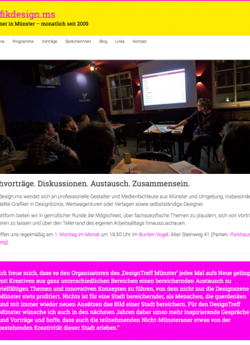 Bild der Website grafikdesign.ms