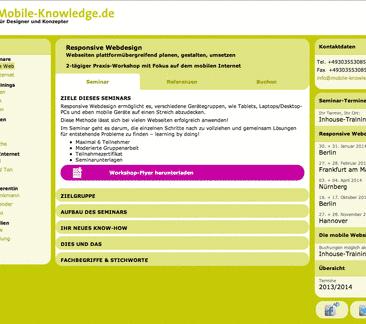 Bild der Homepage