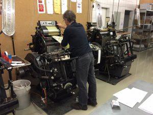 AGD-Regionaltreffen in der Druckerei