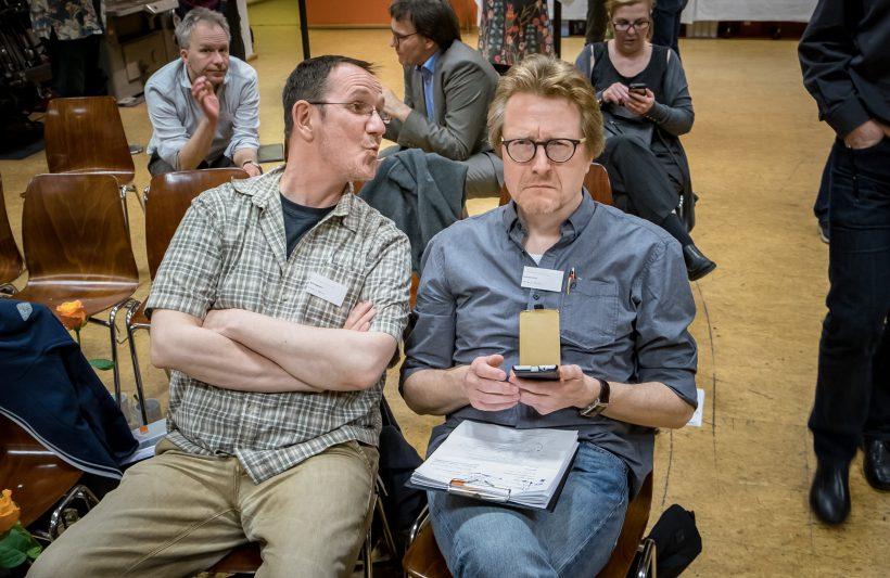 Wahre Liebe gibt es nur unter AGD-Regionalsprechern (v.l.n.r.: Ralf Ziegeweid und Mik Schulz, Regionalsprecher Dortmund-Ruhr)
