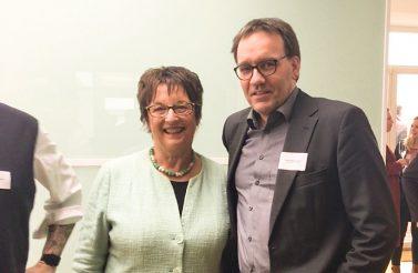 Bundesministerin für Wirtschaft und Energie Brigitte Zypries mit AGD-Vorstand Torsten Meyer-Bogya. © Torsten Meyer-Bogya